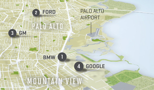 CARMAKERS IN THE SILICON VALLEY